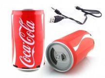 Coca Cola alakú mini zenelejátszó - Üdítő zene egy üdítő dobozból!
