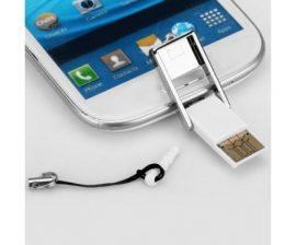 OTG MicroSD olvasó - Telefonodhoz kihagyhatatlan +Forgó telefongyűrű tablet tartóval!