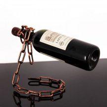 Lebegő lánc borosüvegtartó - Garantált siker a vendégeknél!