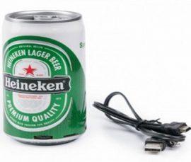 Heineken sörös doboz formájú MP3 lejátszó - Rádió és hangszóró is egyben!