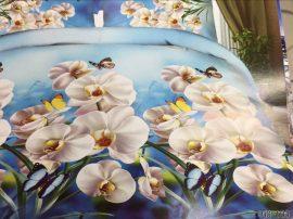 3 részes 3D ágynemű garnitúra - Fehér virágmintával!
