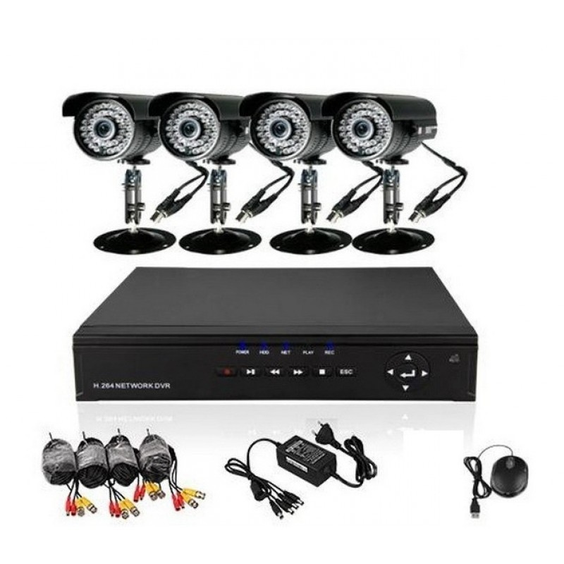 Komplett online 4 kamerás megfigyelő rendszer vezérlőközponttal - Mobilról és internetről is nézhető!