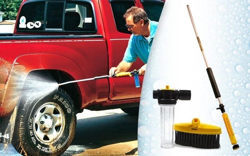 Water Zoom magasnyomású tisztító szett - Kefével és mosószertartállyal!