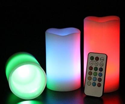 Hangulatos távirányítós 3 db színváltós LED gyertya - Irányítsd a fényeket!