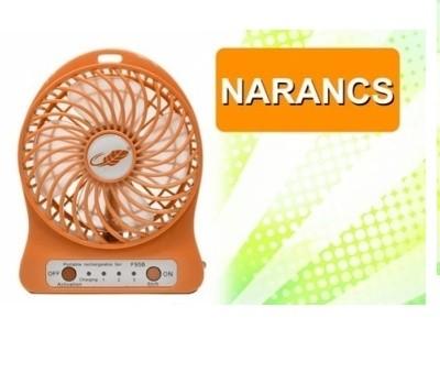 Hordozható akkumulátoros ventilátor narancs színben - Hűtsd le magad bárhol!
