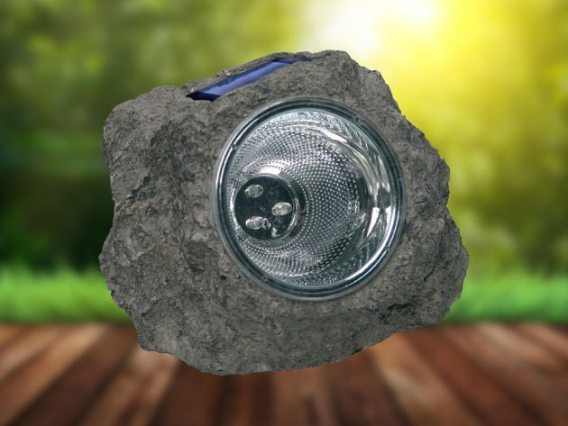 Napelemes világító szikla - Akár 8 órás üzemidő!