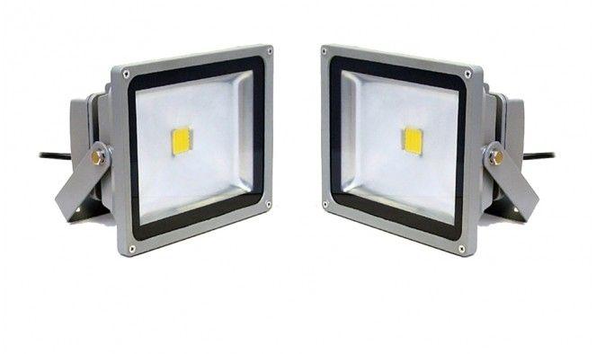 10 WATTOS LED REFLEKTOR - Por, ütés és időjárás álló házban!