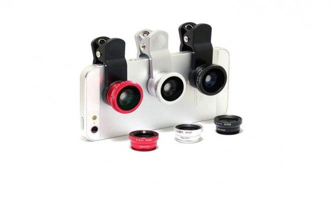 3 db-os optika szett mobiltelefonokhoz - Makro, halszem és széles látószögű objektívvel!