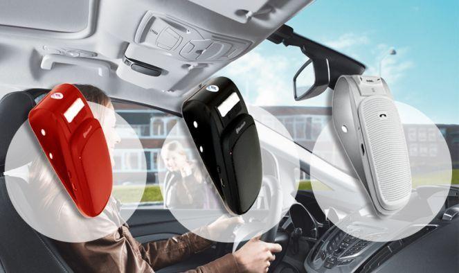 Praktikus autós Bluetooth Kihangosító hosszú készenléti idővel - Piros színben!