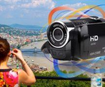 Mini kompakt HD kézi videokamera - Carl Zeiss optikával és forgatható kijelzővel!