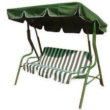 3 személyes hintaágy Zöld-fehér - Kényelmesen az árnyékban!