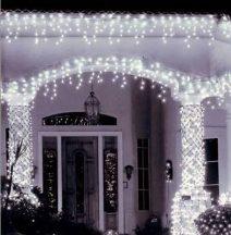 240 ledes karácsonyi jégcsapfüzér izzósor hidegfehér színben - Varázsoljon karácsonyi hangulatot otthonába!