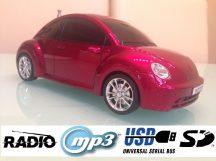 VW Beetle MP3 lejátszó & Rádió - Beépített hangszóróval, USB-s plusz SD!