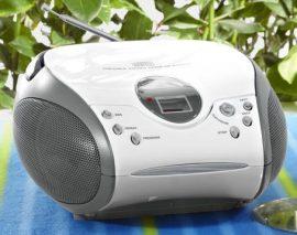Tchibo hordozható CD-s sztereó rádió - Zene bárhol, bármikor!