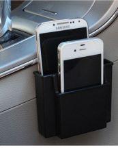 Szellőzőre vagy felragasztható autós telefon és apróság tartó - Hogy mindennek meglegyen a helye!