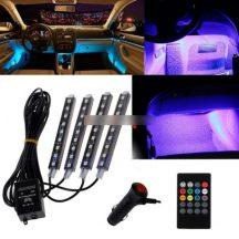Autós Távirányítós RGB LED belső világítás - Legyen hangulatos az autód!
