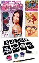 Csillám tetováló készlet - partikellék gyerekeknek és felnőtteknek egyaránt!