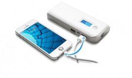 2 USB kimenetes LCD kijelzős Powerbank Monster mobil töltő 20.000 mAh - Tölts egyszerre 2 készüléket azonnal!