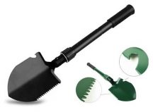 Összecsukható ásó iránytűvel, fűrész funkcióval, sörnyitóval hord táskában - Mindenre felkészülve!