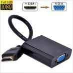 HDMI-VGA átalakító, konverter - Monitorokhoz projektorokhoz, egyéb VGA képes eszközökhöz!