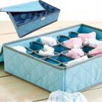 24 rekeszes fehérnemű tároló doboz - Könnyen elhelyezhető polcon, fiókban!