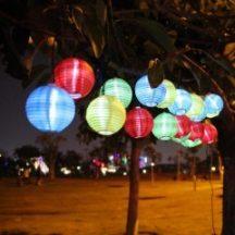 PARTY LAMPION, 10 LED-ES - 10 db gömb alakú, LED-es lampion!