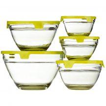 5 részes üvegtál szett - 5 különböző méretű üvegtál egy szettben!