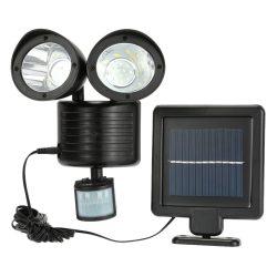 Dupla mozgásérzékelős szolár világítás - Automatikusan működésbe lép, ha érzékeli a sötétedést!