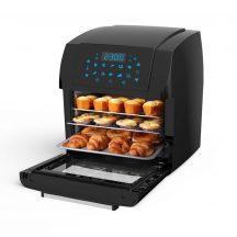 EXTRA NAGY, Digitális kijelzős, Légkeveréses sütő - Forgó grill funkcióval is +Receptkönyv!