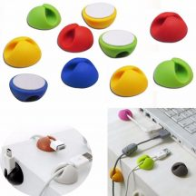 6 DB KÁBEL RENDEZŐ - Kábelt, tollat, fülhallgatót helyezhetsz bele, asztalra, falra illeszthető!
