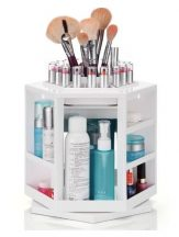 Forgó kozmetikai állvány és sminkkészlet tartó - Helytakarékos és könnyen átlátható!
