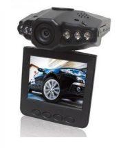 Magyar menüs Autós eseményrögzítő biztonsági kamera - Színes monitorral és éjjellátó funkcióval, HD DVR!
