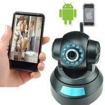 Forgatható WiFi IP kamera éjszakai üzemmóddal is - Telefonodról nézheted!