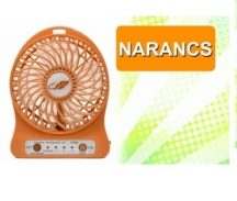 Akkumulátoros ventilátor Narancs