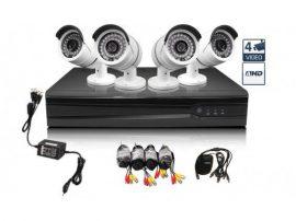 FULL AHD 4 Kamerás Online Megfigyelő rendszer Vezérlőközponttal BOMBA ÁRON! - Kiváló minőségben rögzít!