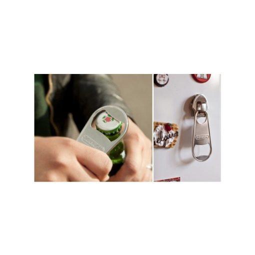Mágneses cipzár alakú sörnyitó - Mindig kéznél!