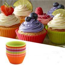 Szilikon muffin sütőforma -Sütőben, mikróban, fagyasztóban használható!