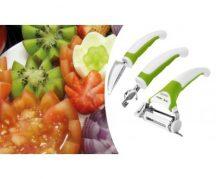 Triple Slicer 3 in 1 hámozó - Ajándék kiegészítő késekkel!
