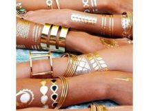 Arany-ezüst tetoválás