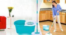 Deluxe Spin Mop forgófejes felmosó - Ragyogó padló varázsütésre!