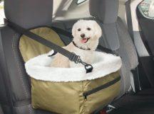 Autós biztonsági kutyaülés / kisállat hordozó - A kedvenced is biztonságban!