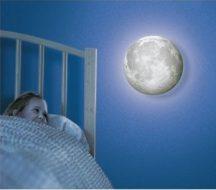 Holdfény hangulatlámpa - 12 különböző holdfázissal, távirányítóval!