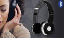 Összecsukható Prémium Bluetooth sztereó fejhallgató - Fekete színben!