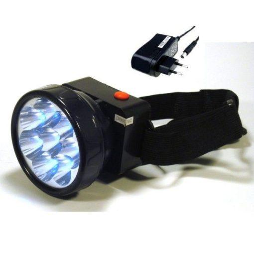 Akkumulátoros fejlámpa - 8 LED-del!