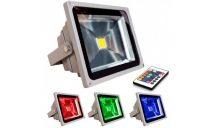 TÁVIRÁNYÍTÓS RGB LED REFLEKTOR 10W-os - A színeket távirányítóval tudod állítani!