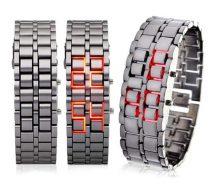 Iron Samurai LED Karóra szürke színben - Modern és divatos kiegészítő!