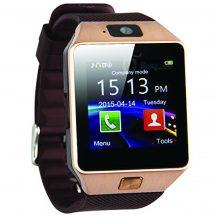 Prémium Android okosóra kamerával és SIM kártya hellyel, Arany - Használható telefonként is!
