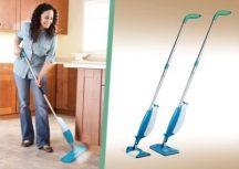Spray Mop folyadék-adagolós padlótisztító - 2in1 seprű és felmosó egyben!