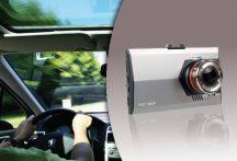 """Autós eseményrögzítő biztonsági ULTRA SLIM fém házas HD kamera - 3"""" Extra nagy kijelző + G-SENSOR automata felvétel indítás!"""