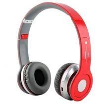 Összecsukható Prémium Bluetooth sztereó fejhallgató - Piros színben!